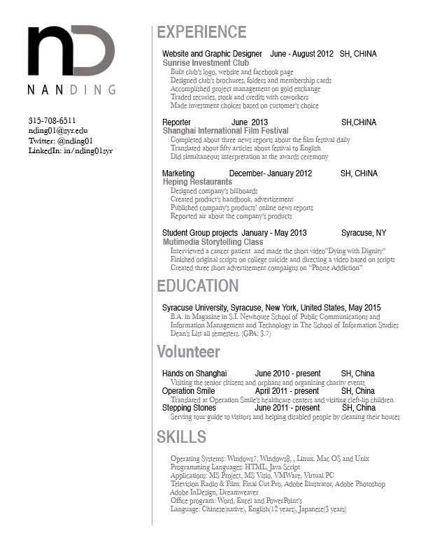 Resume | GRA 217 Section 5 Group 1 | Page 8